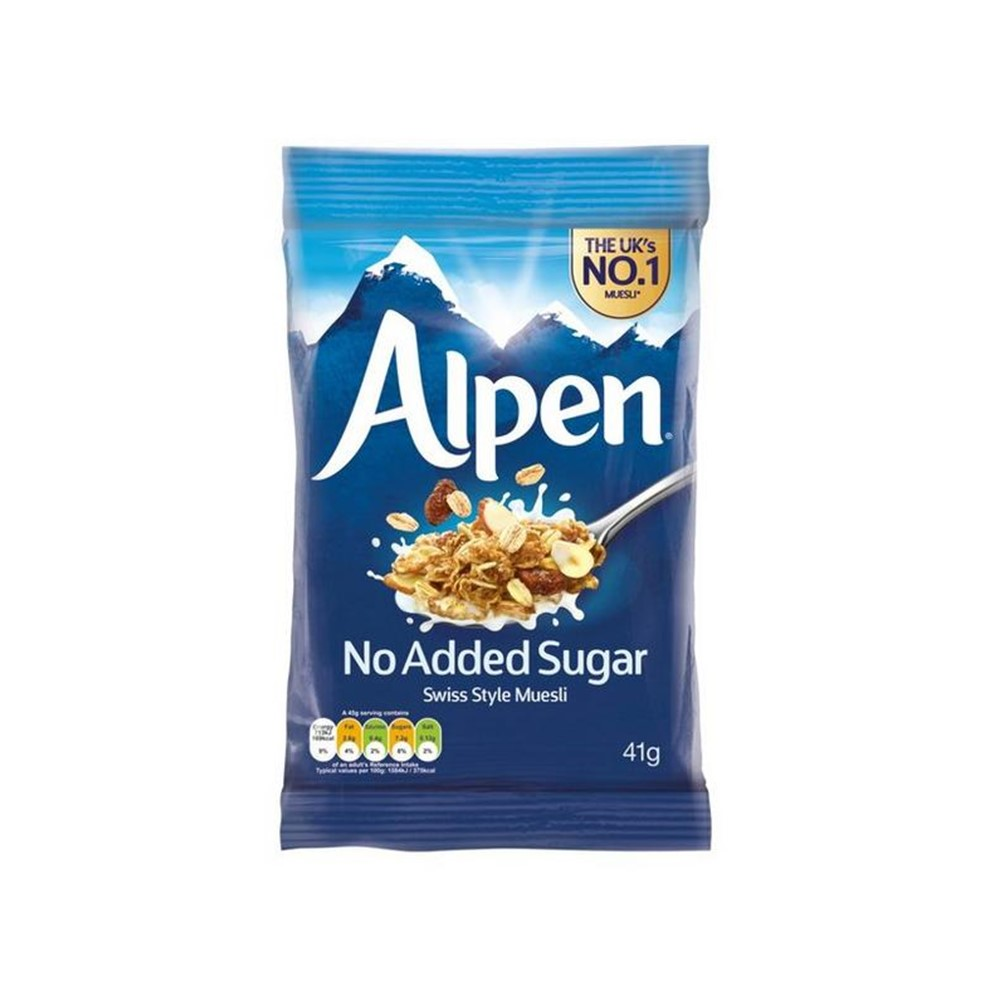 Alpen Muesli No Added Sugar - 30x45g sachets