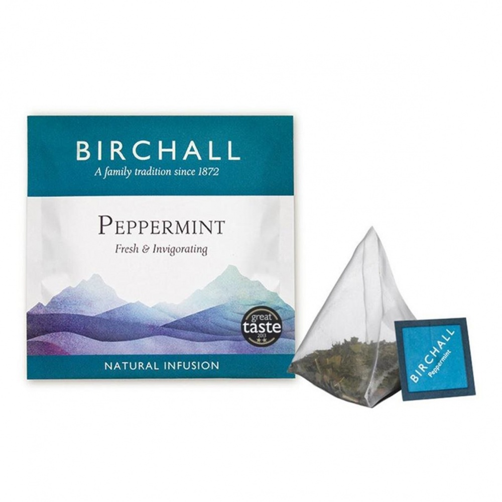 Birchall Peppermint - 20 PRISM tea bags in envelopes