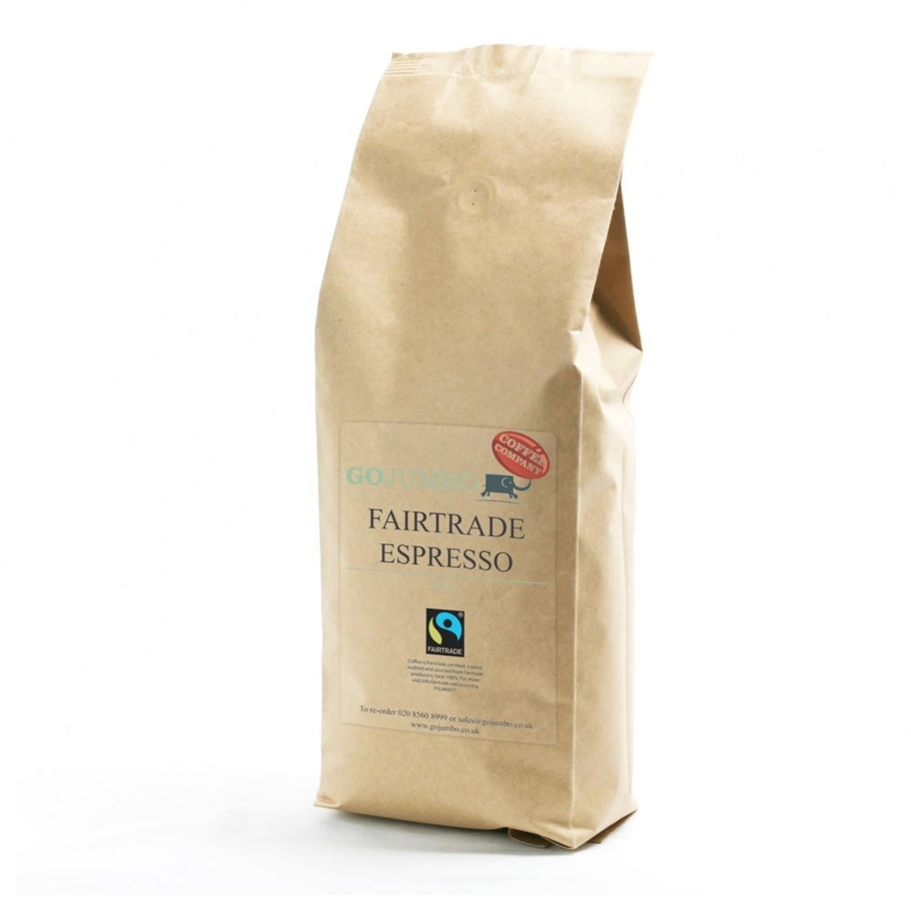 Go Jumbo Coffee Co Espresso Beans - 1kg packet [FT]