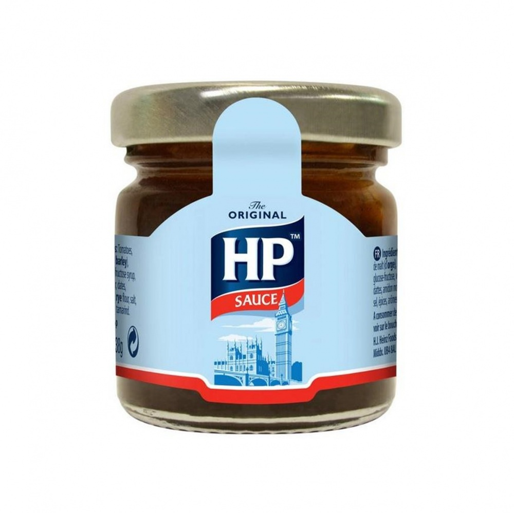 HP Original Brown Sauce - 80x33ml mini glass jars