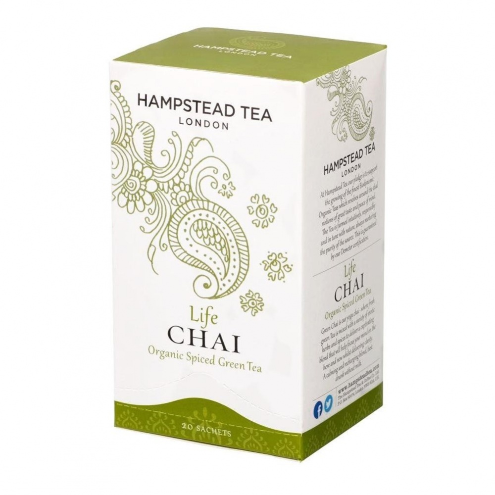 Hampstead Chai Green [Life] - 20 tea bags in envelopes [ORG]