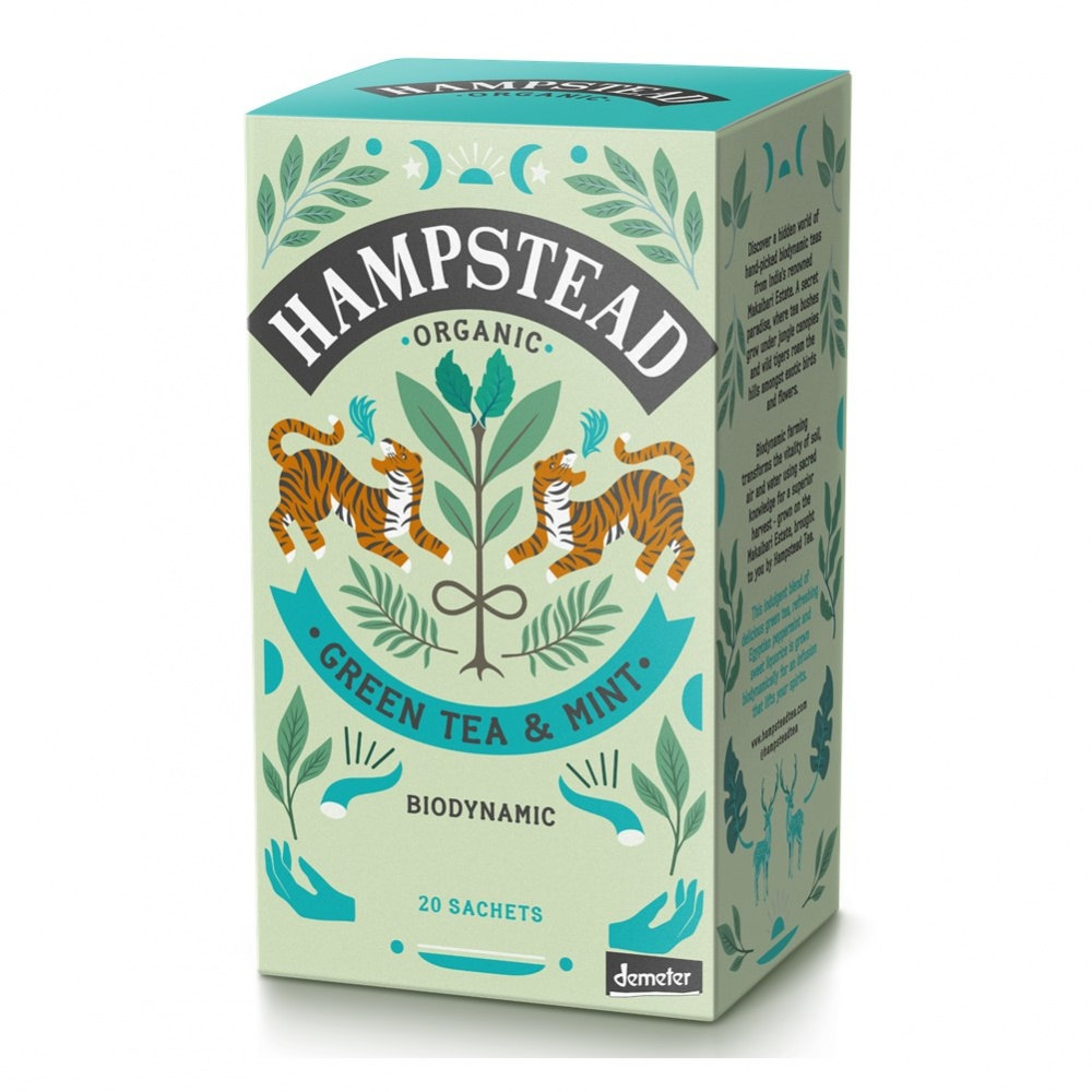 Hampstead Green Mint - 20 tea bags in envelopes [ORG]