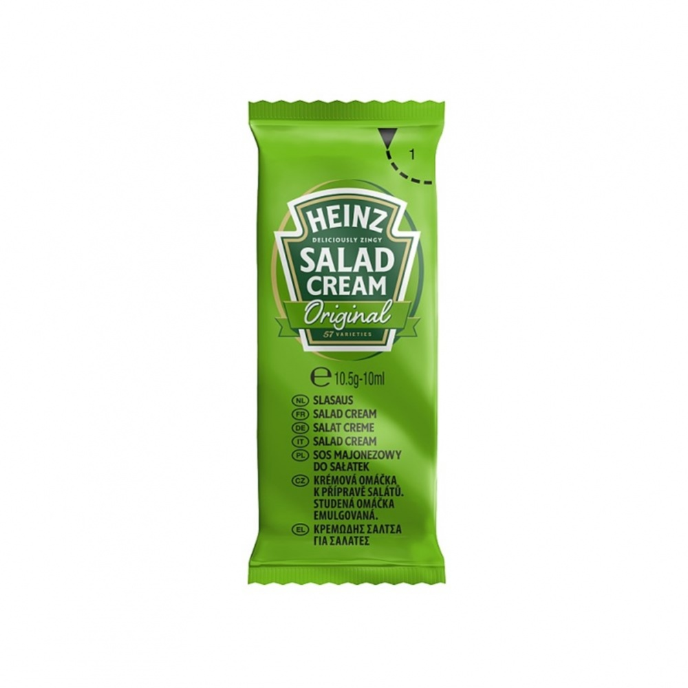 Heinz Sauce Salad Cream - 200x10.5g sachets in dispenser