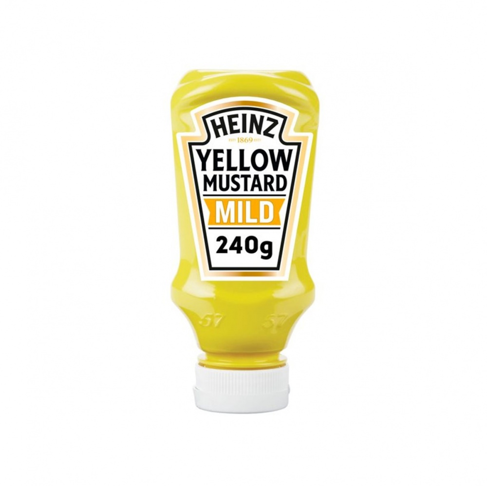 Heinz Yellow Mustard Mild - 240g squeezy bottle