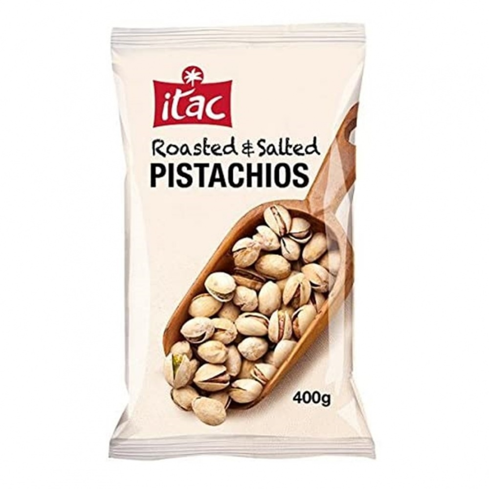 Itac Pistachios Roasted and Salted [in shells] - 400g bag
