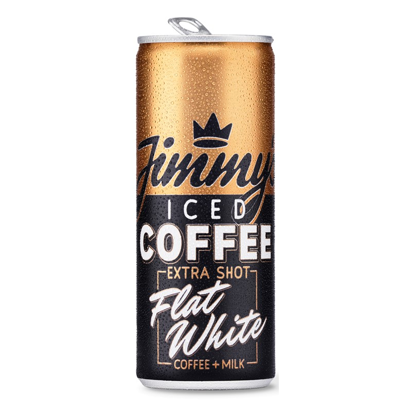 Jimmy's Iced Coffee Flat White Extra Shot - 12x250ml cans