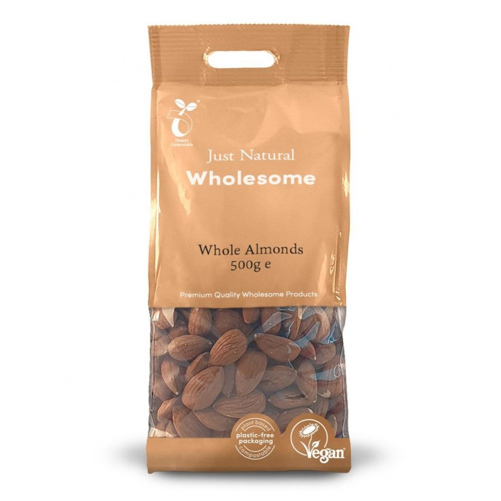 Just Natural Almonds [Whole] - 500g bag