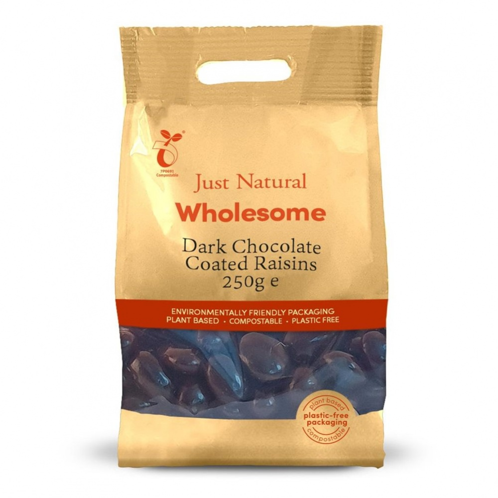 Just Natural Raisins Dark Chocolate Coated - 250g bag