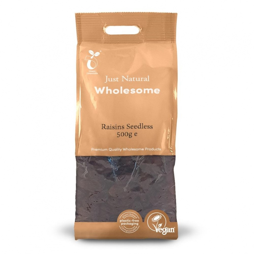 Just Natural Raisins Seedless - 500g bag