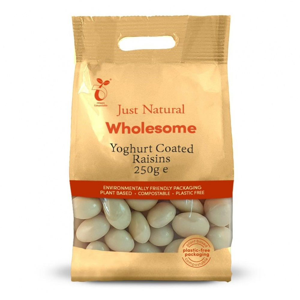 Just Natural Raisins Yogurt Coated - 250g bag