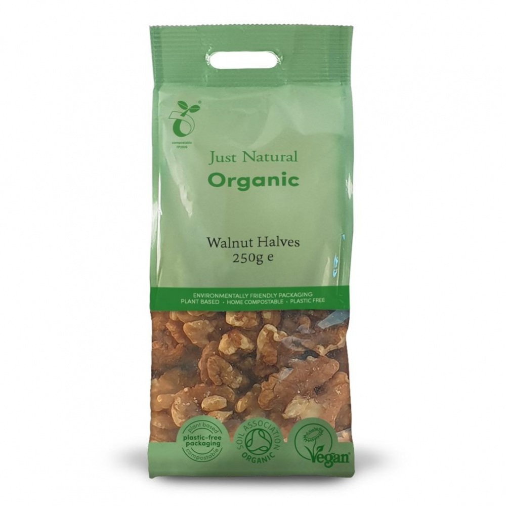 Just Natural Walnuts [Halves] - 250g bag [ORG]