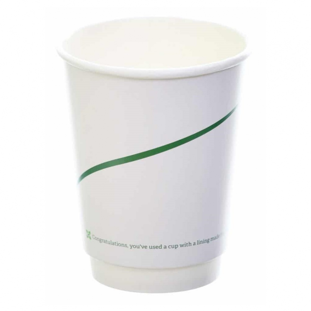 London Bio Packaging Hot Cup Single Wall -  case 1000x12oz cups [BIO-D]