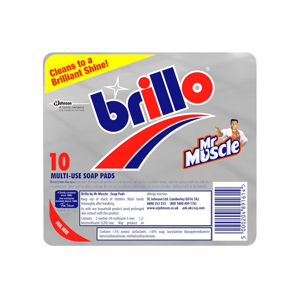 Mr Muscle Brillo Scouring Pads - 10 pads
