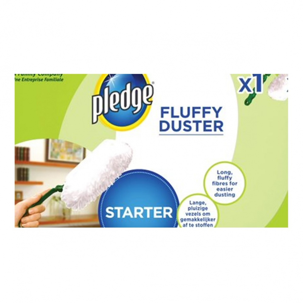 Pledge Fluffy Duster Starter Kit - 1 head & 2 dusters