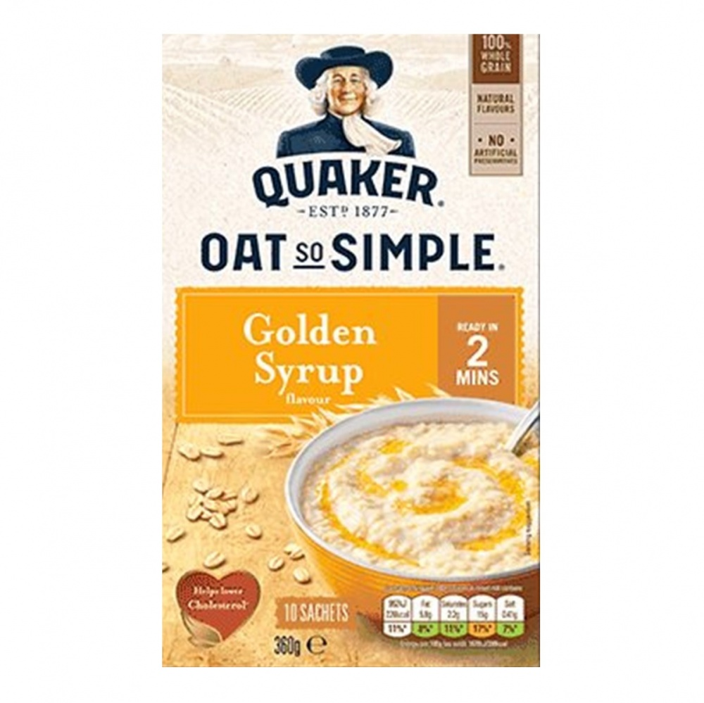 Quaker Oat So Simple Golden Syrup - box 50 sachets