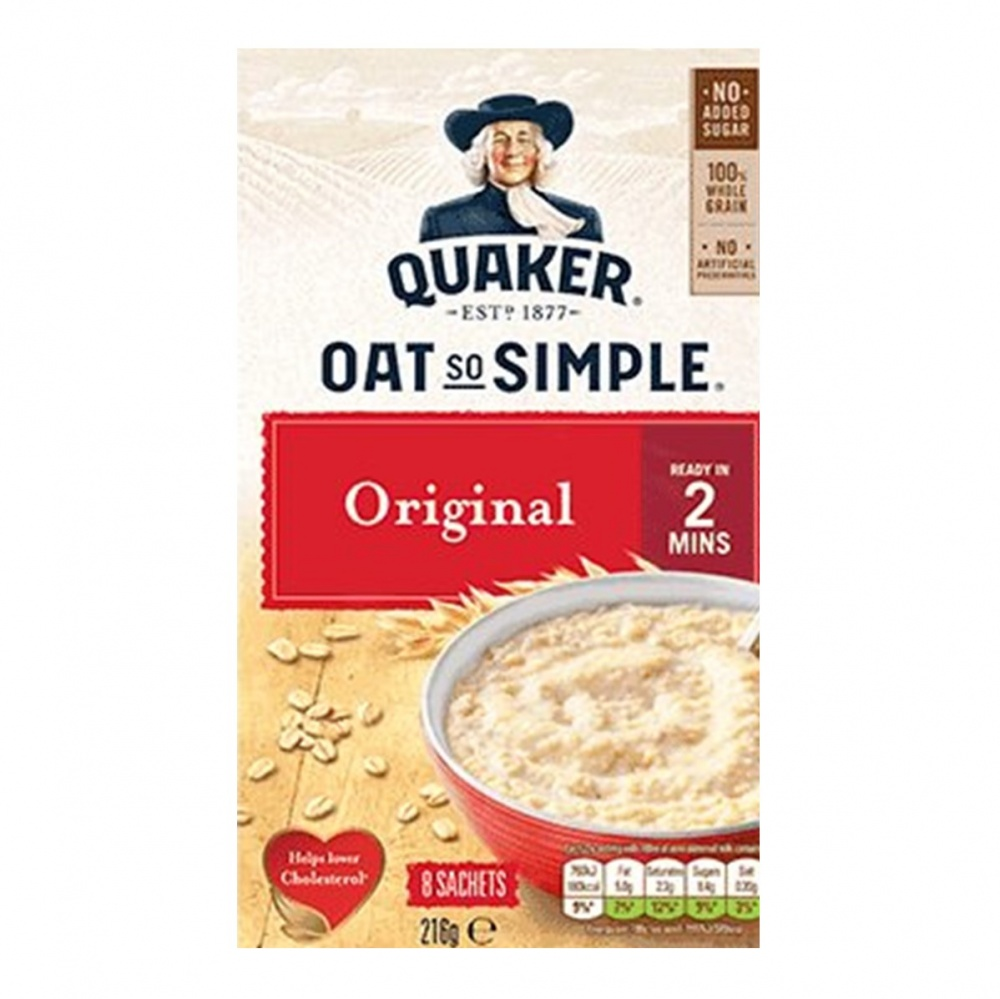 Quaker Oat So Simple Original - box 60 sachets