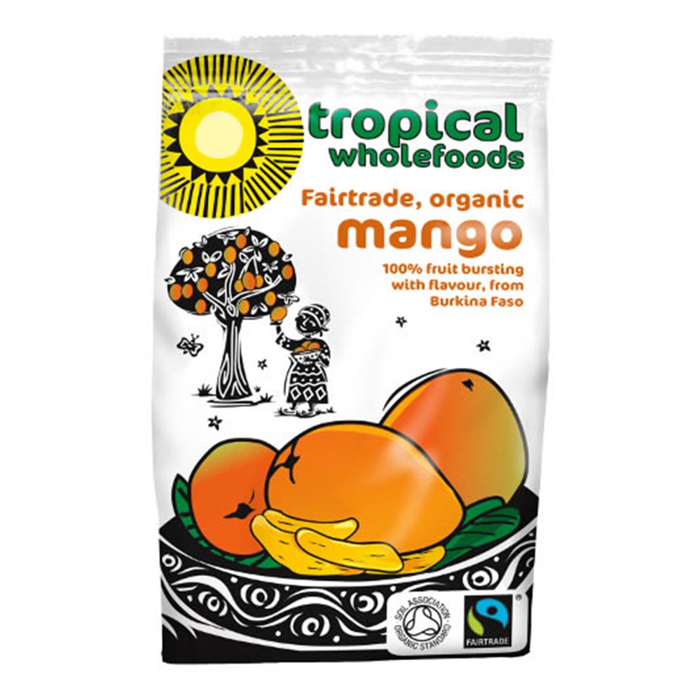 Tropical Wholefoods Dried Mango - 100g packet [FT & ORG] BEST BEFORE 14/06/21