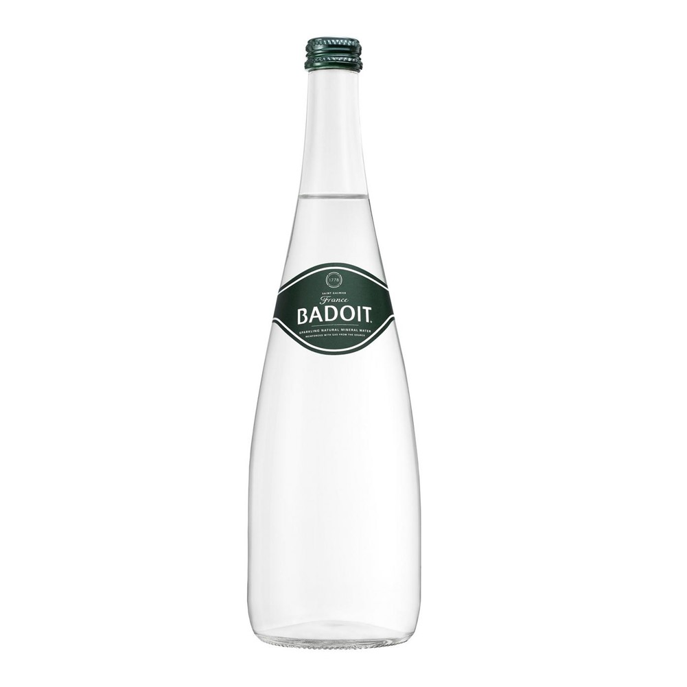 Badoit Naturally Sparkling Water - 12x750ml glass bottles