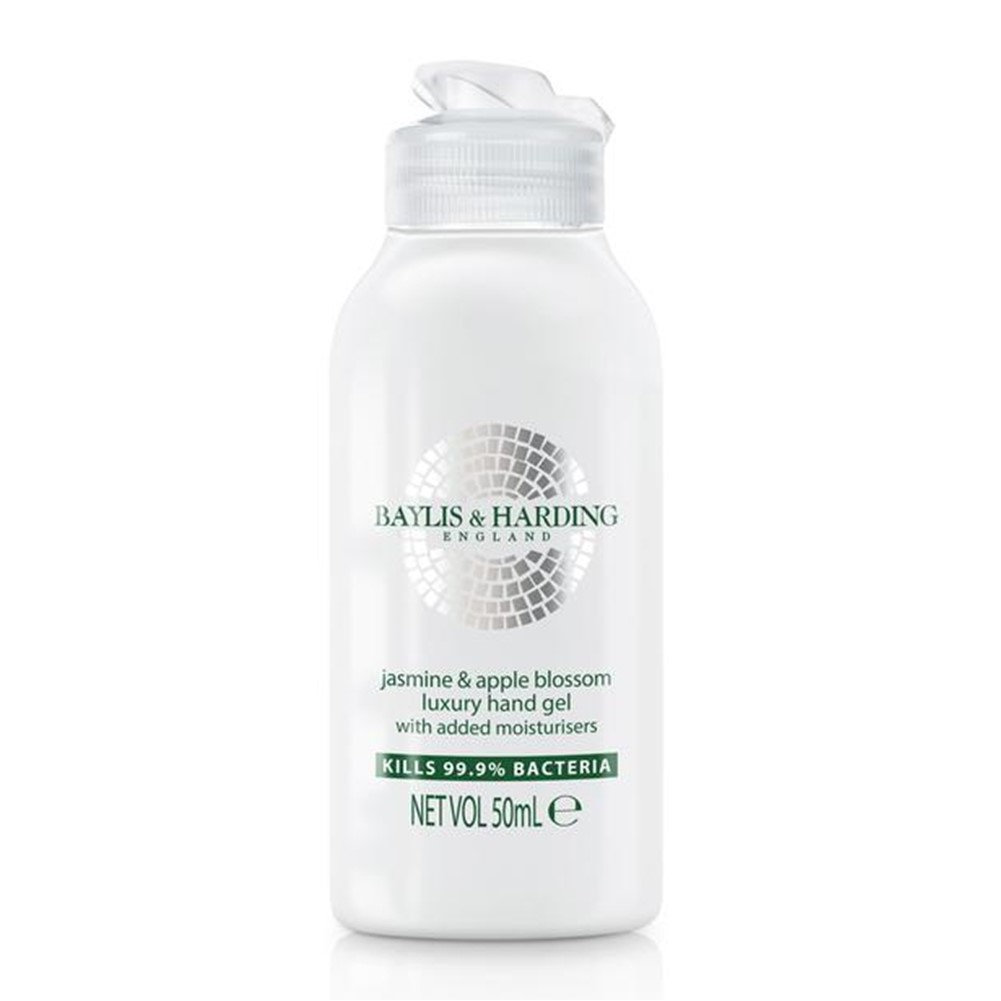 Baylis & Harding Hand Sanitiser Apple & Jasmine [73% alcohol] - 50ml flip top bottle