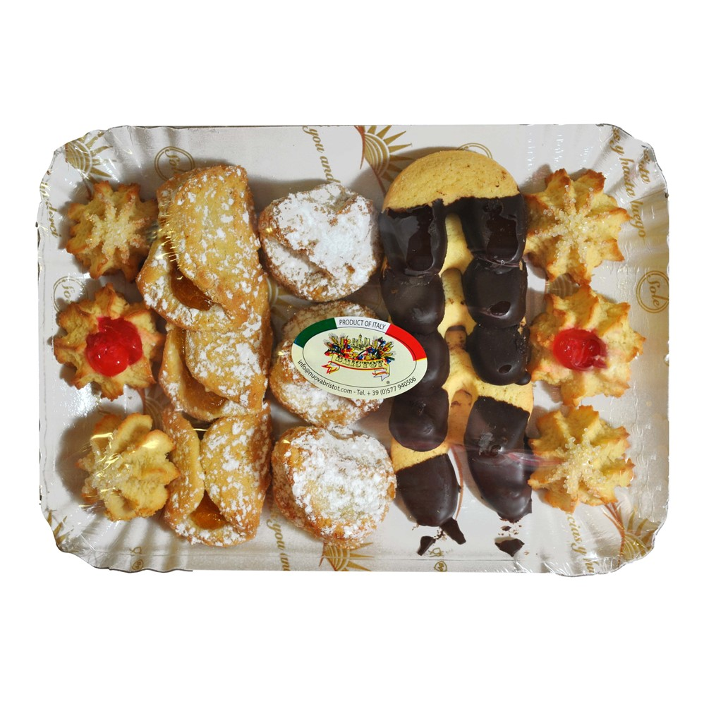 Bristot Italian Mixed Patisserie - 300g tray (16 biscuits)