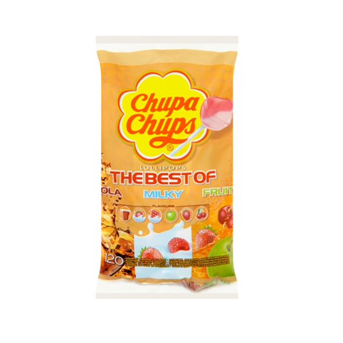 Chupa Chups Best Of Lollipops - bag of lollies [100 + 20 free wrapped]