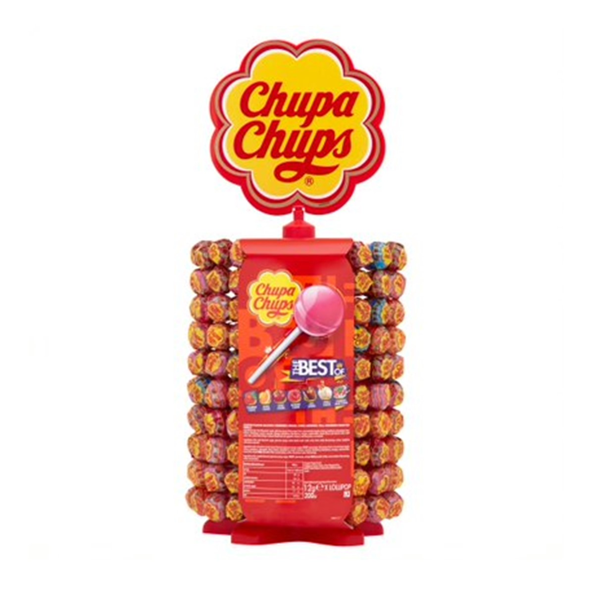 Chupa Chups Best Of Lollipops - wheel of lollies [200 wrapped]