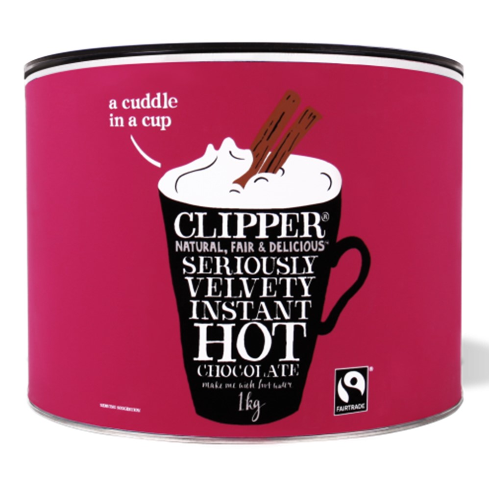 Clipper Instant Hot Chocolate - 1kg tin [FT]