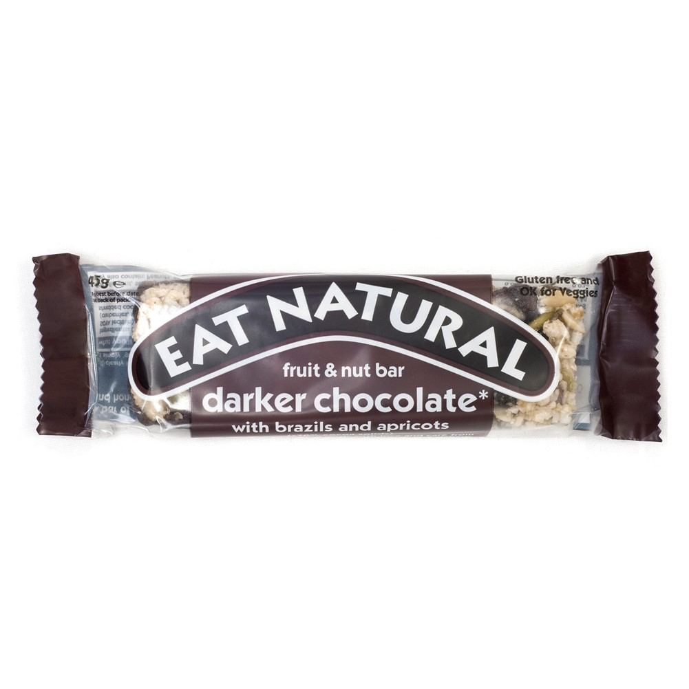 Eat Natural Darker Chocolate with Almonds & Apricot - 12x45g bars