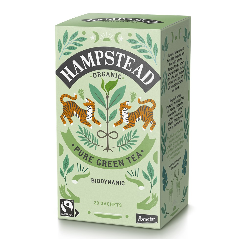 Hampstead Green - 20 tea bags in envelopes [FT & ORG]