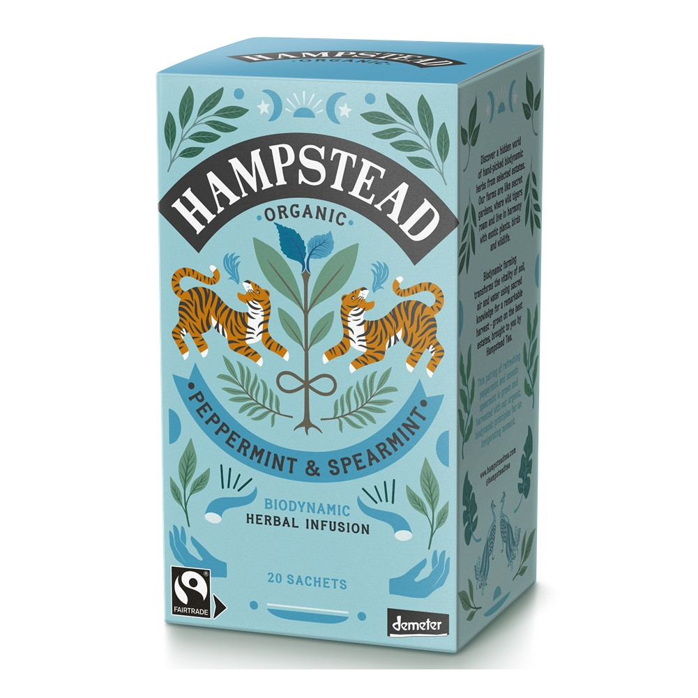 Hampstead Peppermint & Spearmint - 20 tea bags in envelopes [FT & ORG]