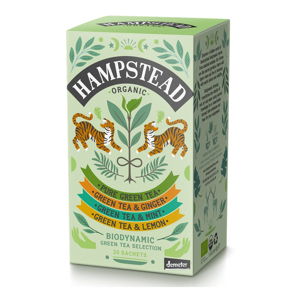 Hampstead Variety Pack Green - 20 tea bags in envelopes [ORG]