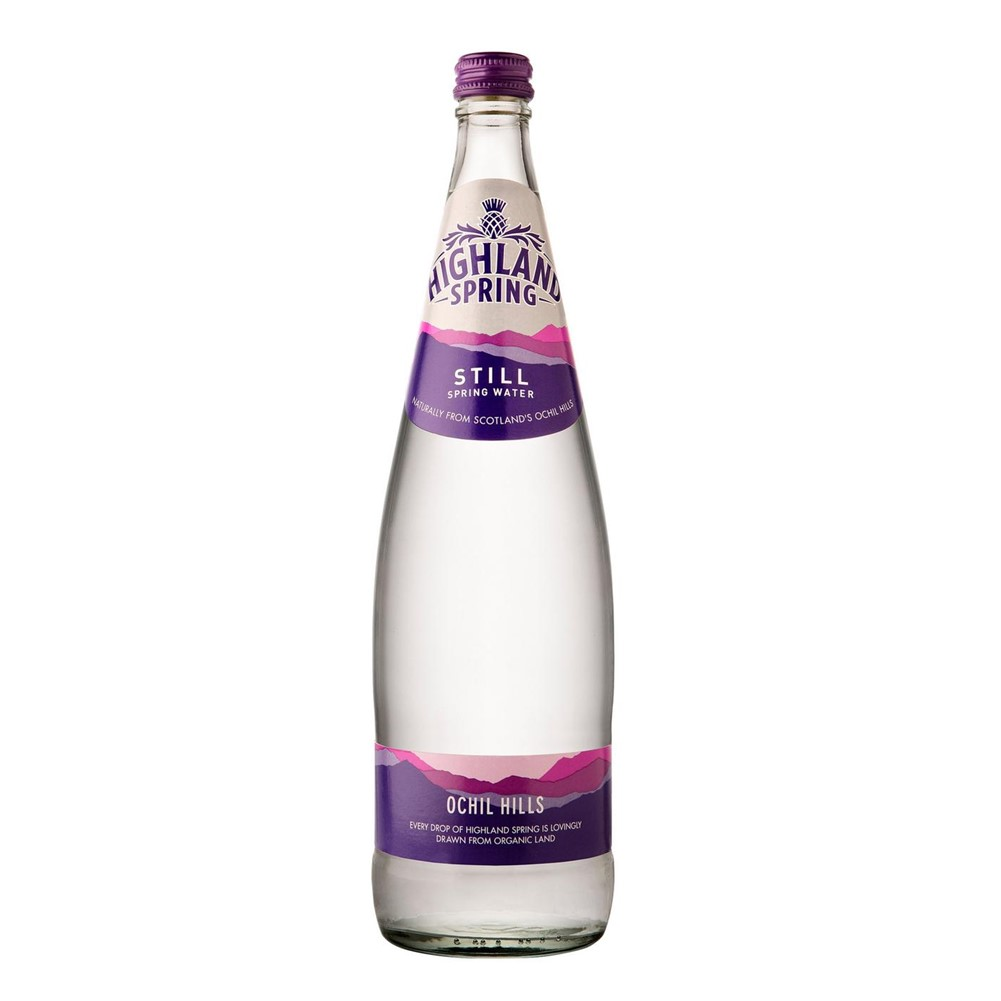 Highland Spring Still Water - 12x1L glass bottles