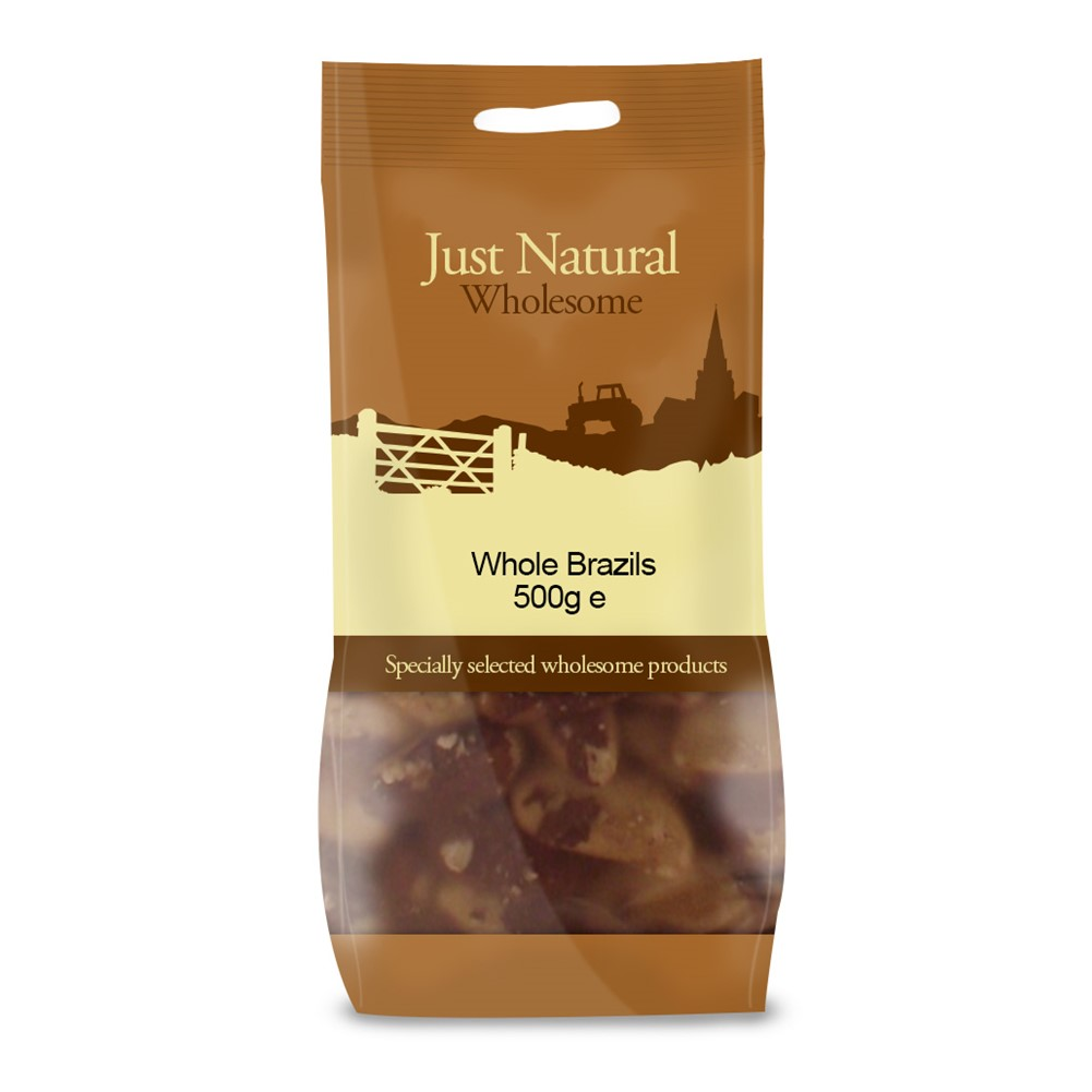 Just Natural Brazil Nuts [Whole] - 500g bag