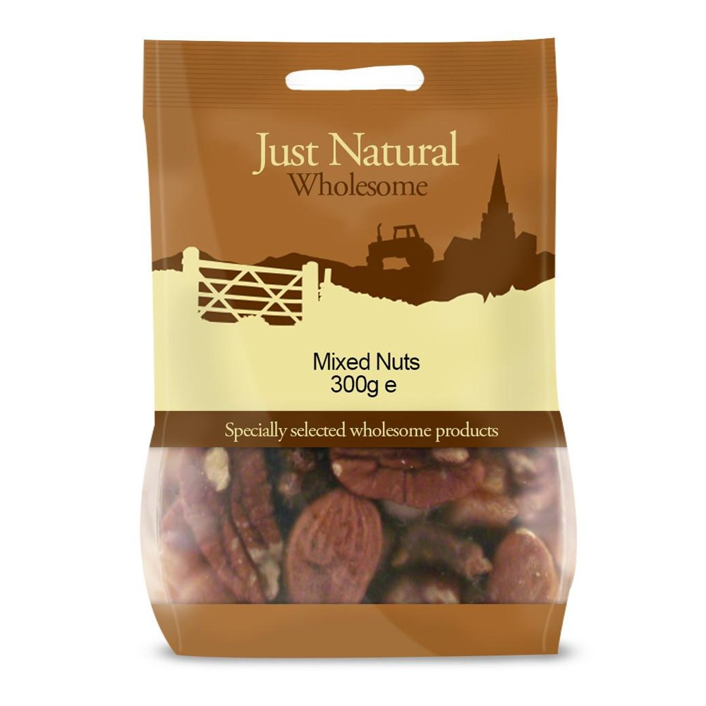 Just Natural Mixed Nuts Deluxe [Unsalted] - 300g bag