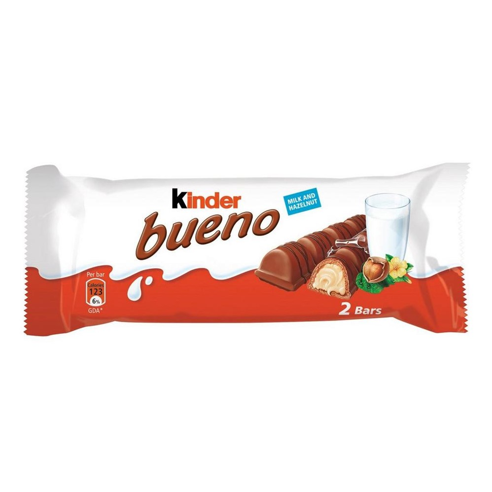 Kinder Bueno MILK Chocolate - 30x43g [2 finger] bars