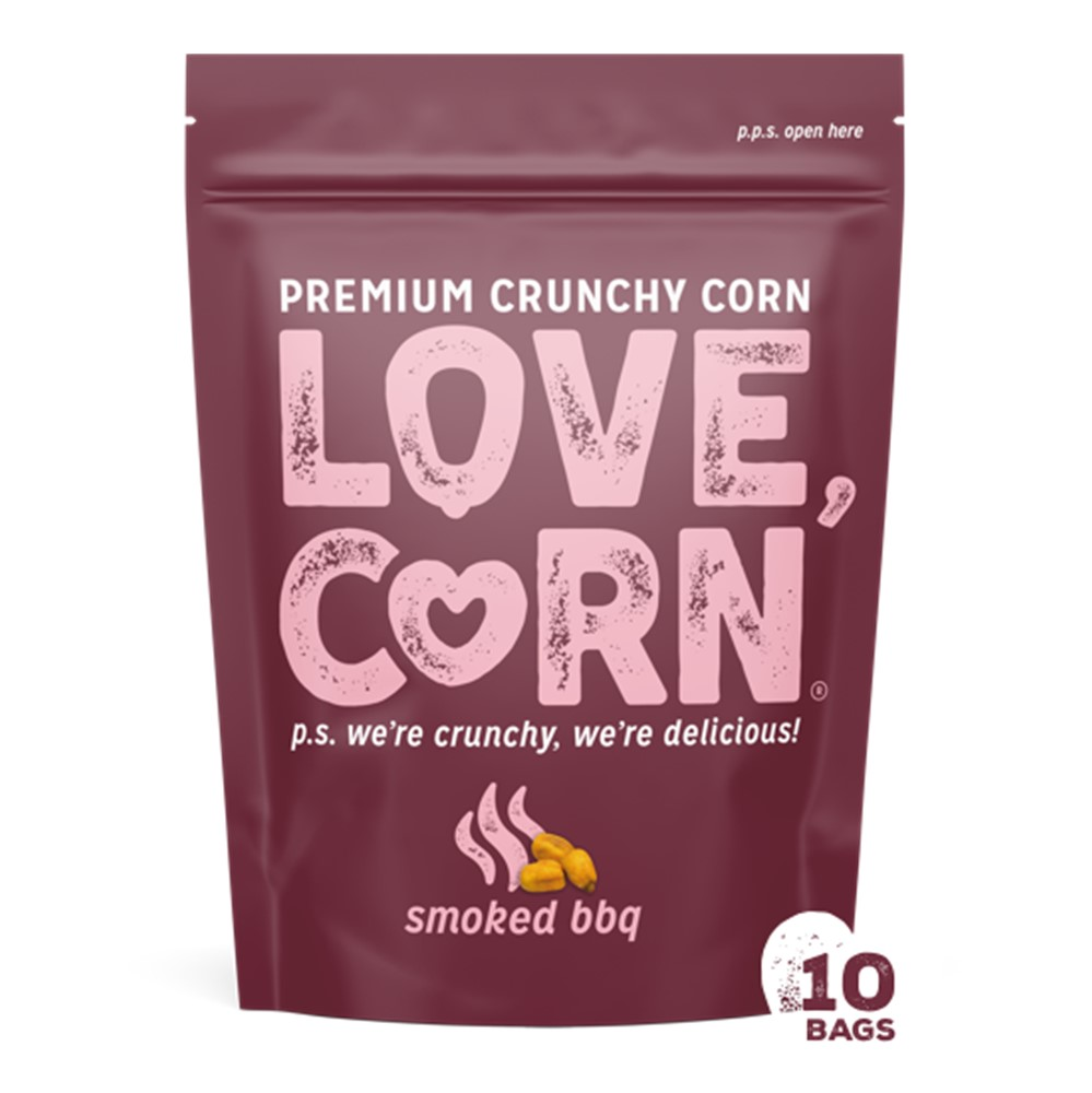 Love Corn Barbecue Premium Crunchy Corn - 10x45g packets