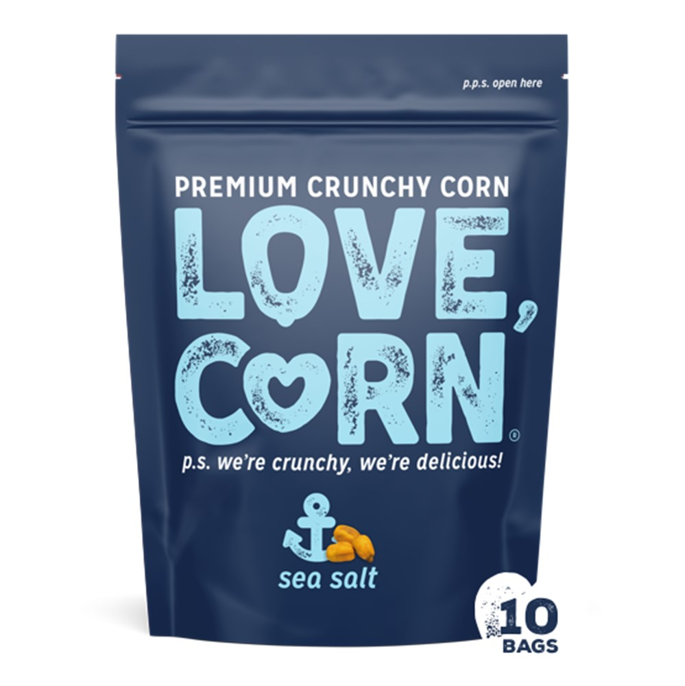 Love Corn Sea Salt Premium Crunchy Corn - 10x45g packets
