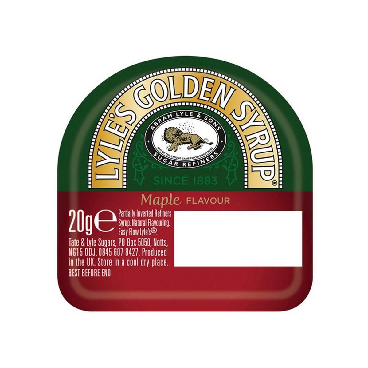 Lyle's Golden Syrup MAPLE Flavour - 4x24x20g mini tubs
