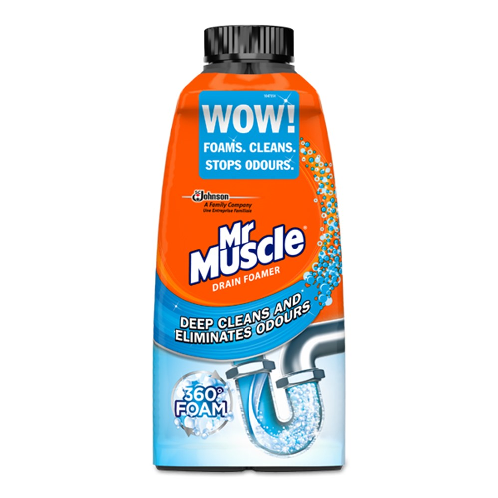 Mr Muscle Sink & Drain Foamer - 500ml [2x250ml] bottle