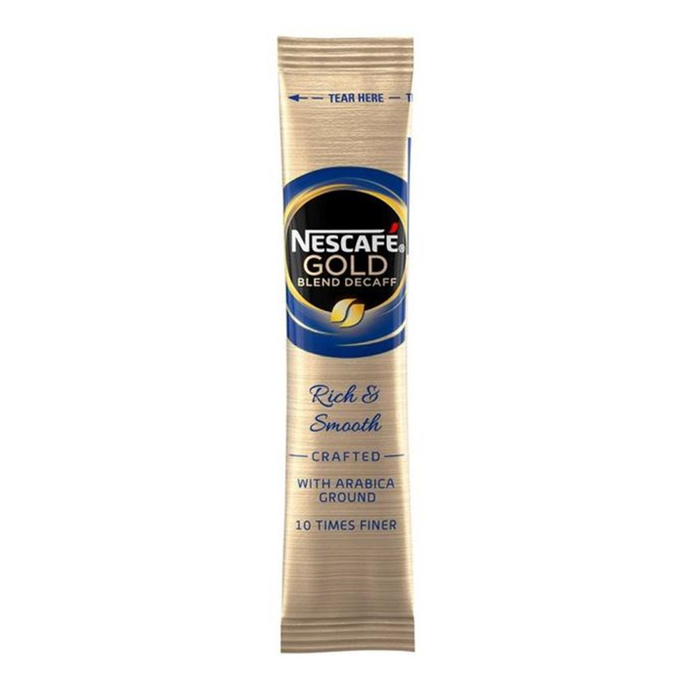 Nescafe Gold Blend Freeze Dried Instant DECAFFEINATED Coffee - 200x1-cup sticks
