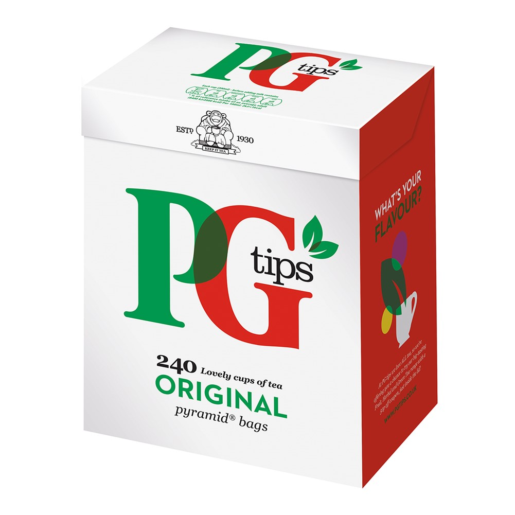 PG Tips Pyramid - 240 tea bags [RFA]