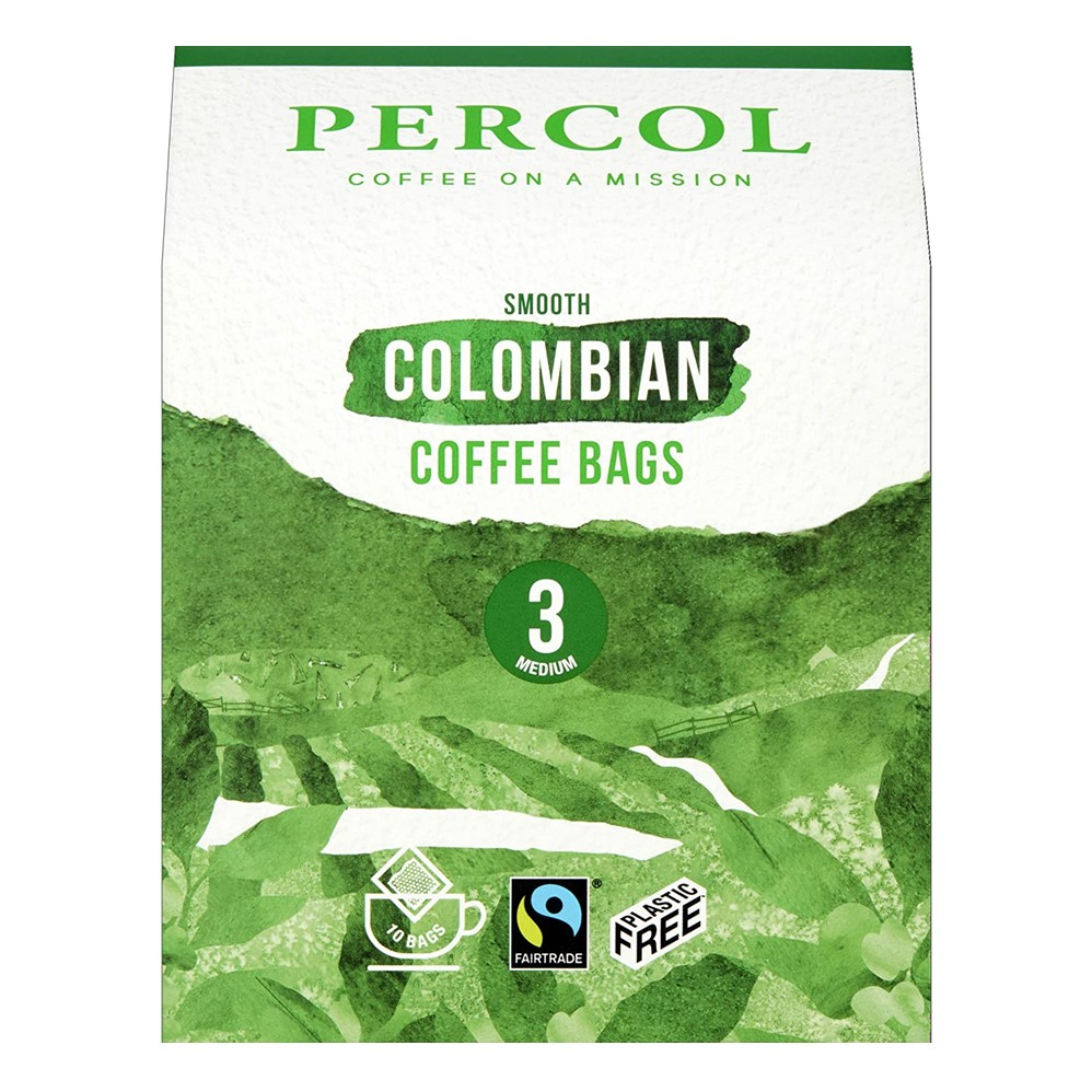 Percol Coffee Bags Colombian - 10 x 1-cup bags [FT]