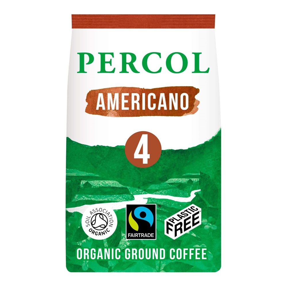 Percol Roast & Ground Americano - 200g pack [FT & ORG] **