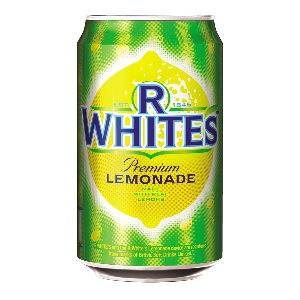 R Whites Lemonade Regular - 24x330ml cans