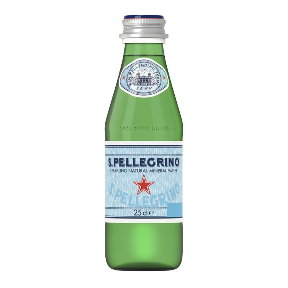 San Pellegrino Sparkling Water - 24x250ml glass bottles