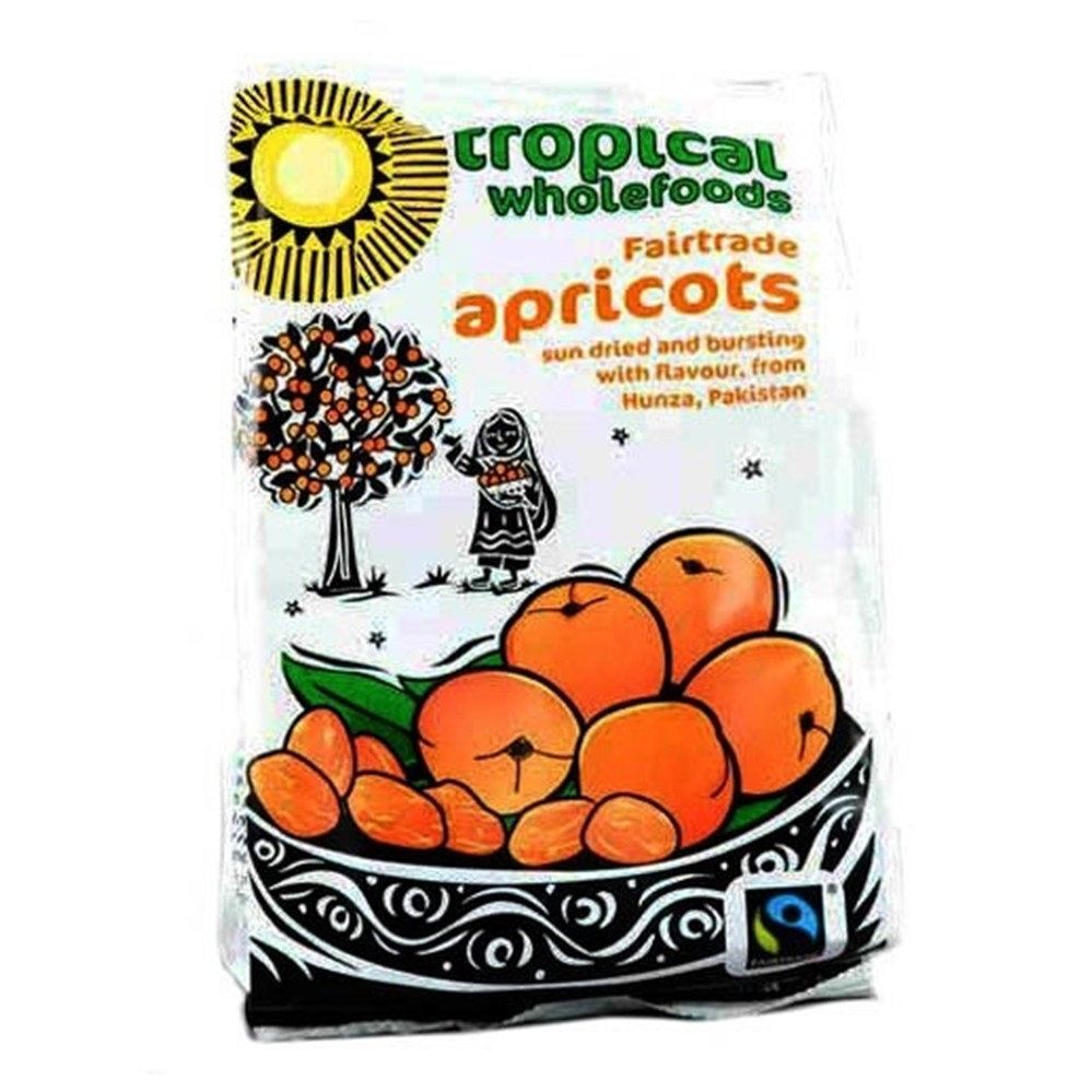 Tropical Wholefoods Dried Apricot - 125g packet [FT]