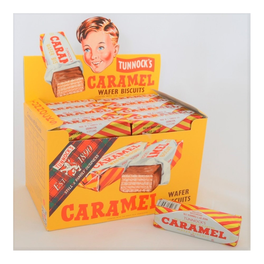 Tunnock's Caramel Wafers - 48x30g wrapped biscuits