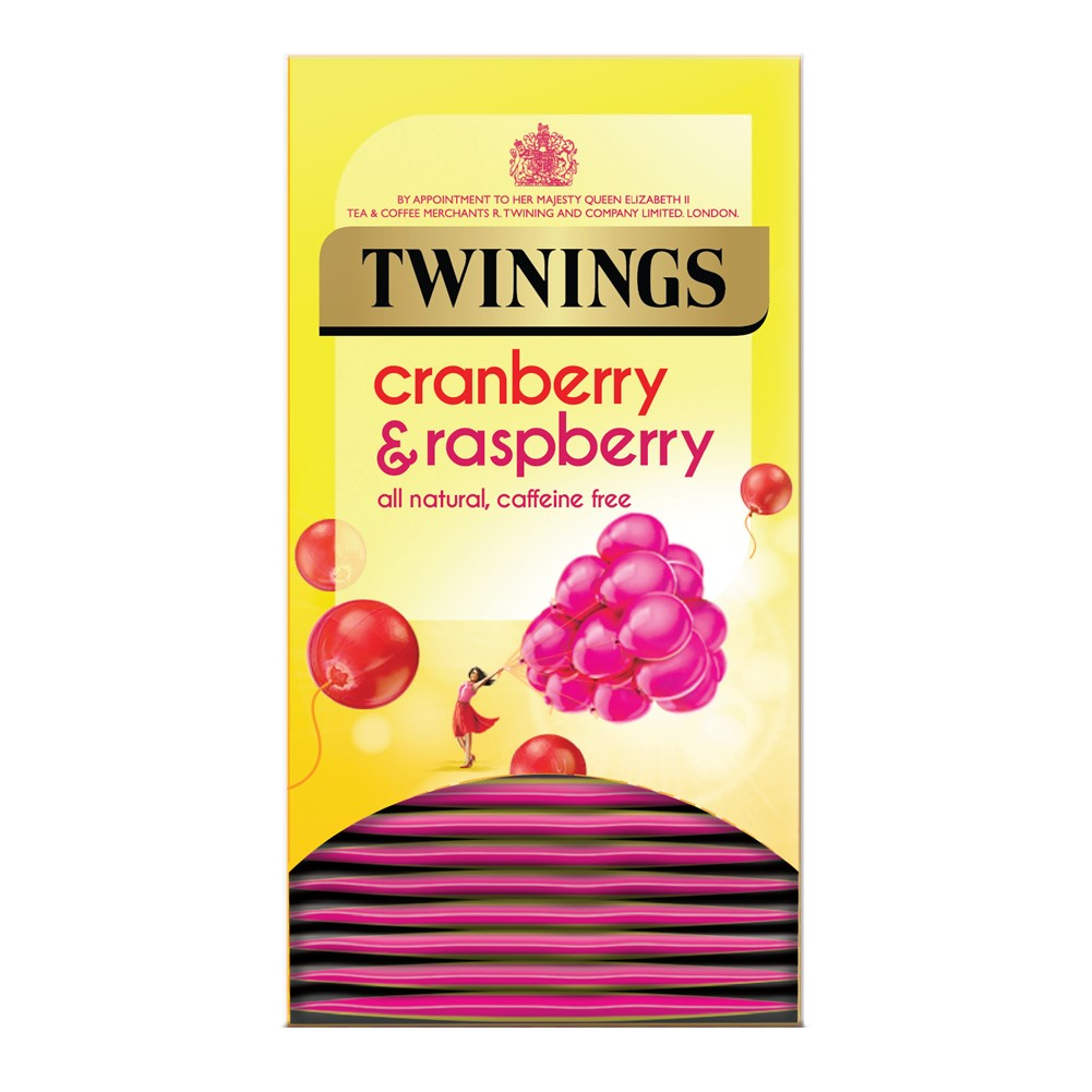 Twinings Cranberry & Raspberry - 20 tea bags in envelopes