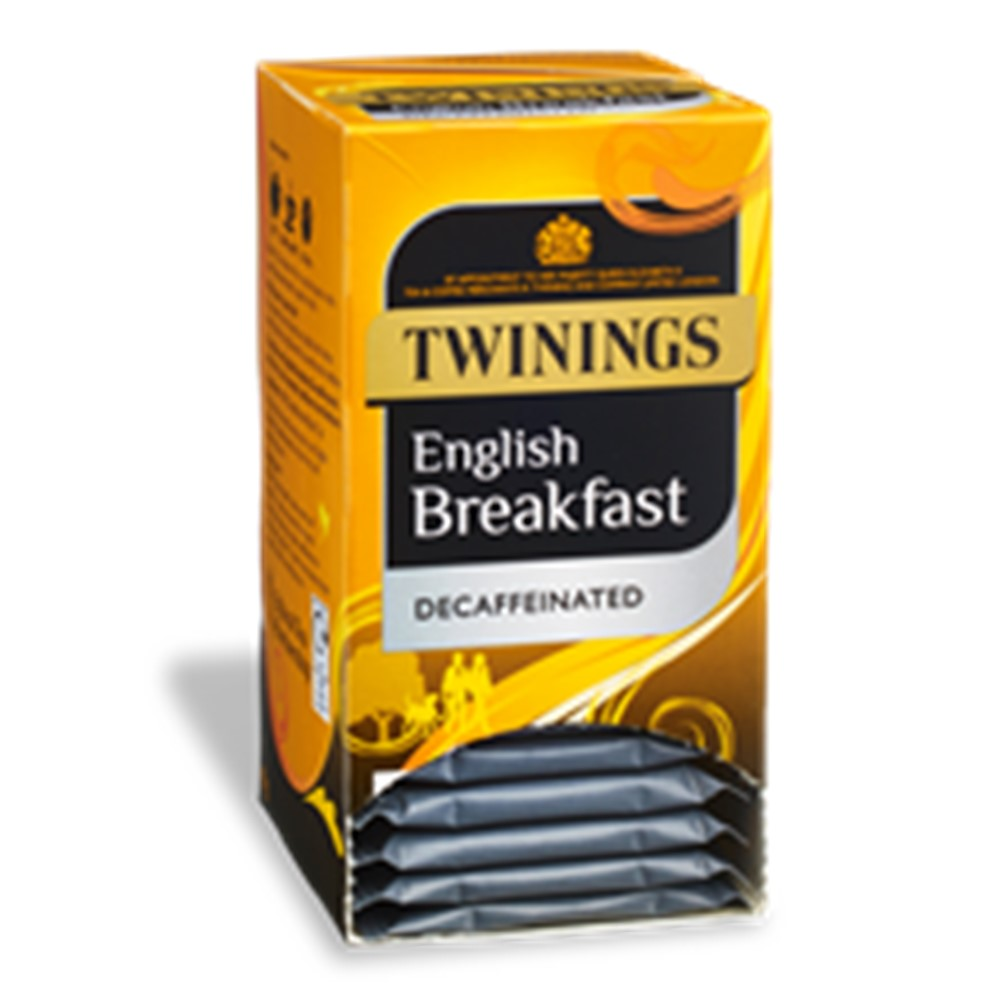 Twinings English Breakfast DECAFFEINATED - 20 tea bags in envelopes