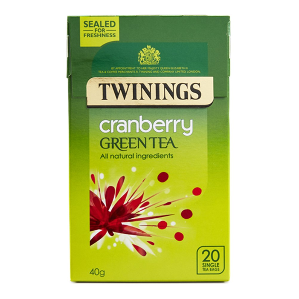 Twinings Green Tea & Cranberry - case 4x20 tea bags